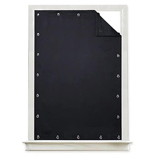 Cortina ciega Temporal Opaca para Ventana Cortina de Ventosa Ajustable Paneles reductores de Ruido con Aislamiento térmico para Almacenamiento -Negro