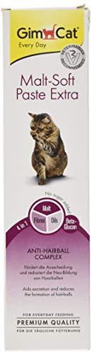 GimCat Malt-Soft Paste Extra, Ballaststoffreicher Katzensnack mit Anti,Hairball Complex, Fördert Ausscheidung und Neubildung von Haarballen