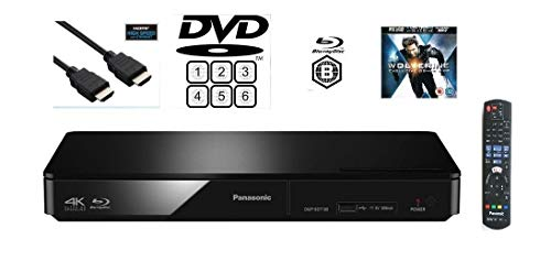 Panasonic DMP-BDT180EB Multiregion DVD-Player mit Smart Network 3D Blu-ray Player/Fernbedienung/HDMI-Kabel/Wolverine Demo Disc.