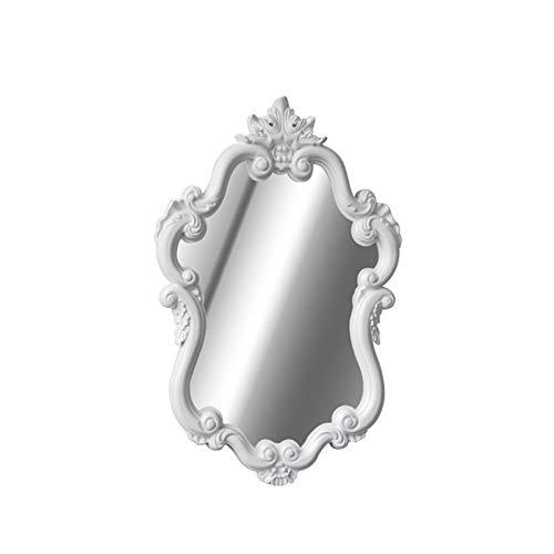 Home - mirror Decoración del hogar Espejos Espejo De Plata Retro, Espejo Antiguo De La Princesa De La Pared del Espejo del Dormitorio del Espejo 60 * 80 Cm Espejos de baño(Size:60 * 80CM,Color:White)