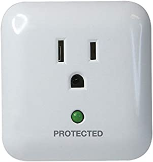 Prime Wire PB802105 1-Outlet Large Appliance Surge Protector with Surge Alarm