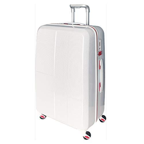 [イノベーター] スーツケース グッドサイズ 消音キャスター INV63 保証付 70L 70 cm 3.6kg ホワイトクロスカーボン