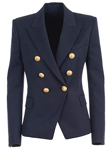Luxury Fashion | Balmain Dames F1997498132L6UC Donkerblauw Wol Blazers | Lente-zomer 20