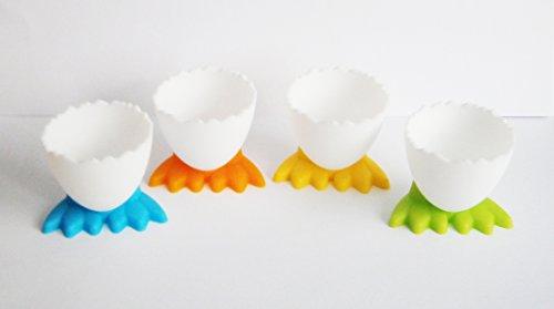 4x EIERBECHER Hühnerfuß Kunststoff Eierhalter Eierbehälter Eier Huhn Ente 97