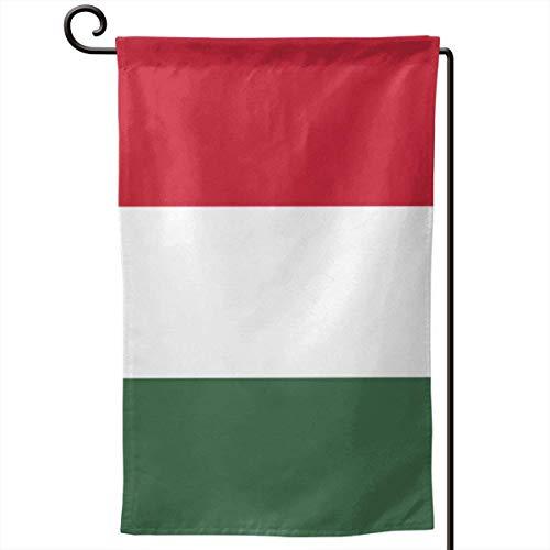 ONGH Bandera de Hungría Jardín de 12.5 x 18 Pulgadas Bandera Impermeable Patio de Doble Cara Decorativo al Aire Libre
