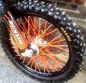 Bykas Made in Today's only USA Orange-Spoke Skins Wraps Coats-Dirt Covers Surprise price