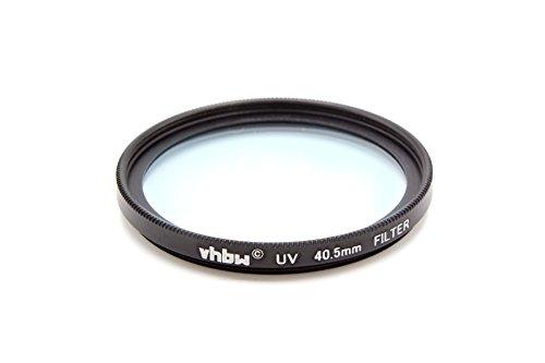 vhbw Universal UV Filter kompatibel mit Kamera Objektiven mit 40,5mm Filtergewinde - UV Schutzfilter, Schwarz
