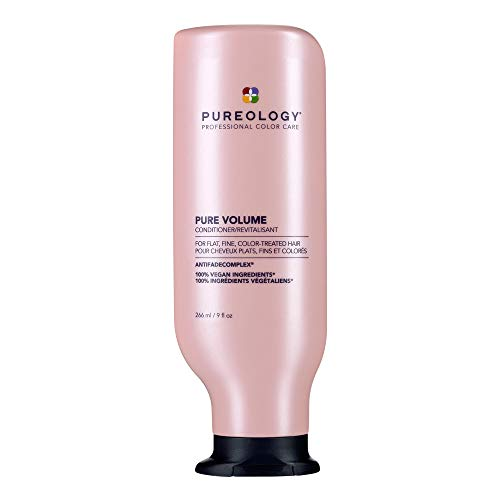 Pureology Pure Volume Conditioner | For Flat, Fine, Color-Treated Hair | Restores Volume & Movement | Sulfate-Free | Vegan | Updated Packaging | 9 Fl. Oz. |