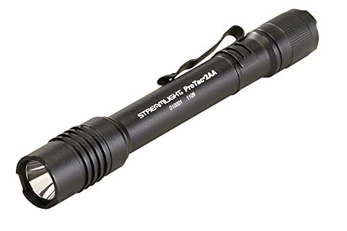 Streamlight 88033 ProTac 2AA 250 Lumen Professional Tactical Flashlight with High/Low/Strobe w/ 2 x AA Batteries - 250 Lumens