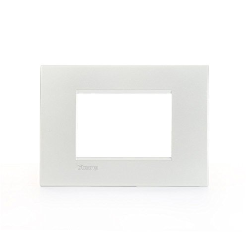 Bticino LNC4803PR Placca Livinglight Air 3 Moduli, Bianco Perla