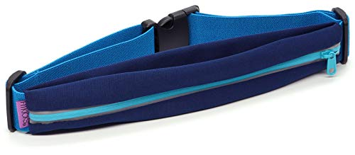 FitKicks FITZIP Active Lifestyle Waist Pack Running Belt (Navy V2)