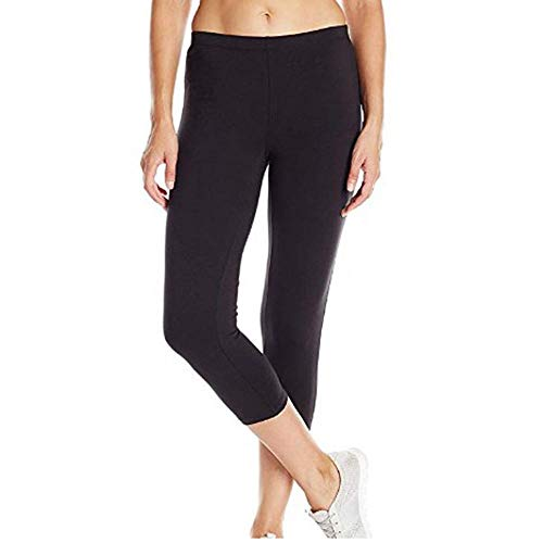 VJGOAL Pantalones Capri Yoga para Mujer Cintura Alta Casual Moda Color sólido Fitness Leggings Medias elásticas sexys Corriendo Gimnasio Pantalones Deportivos