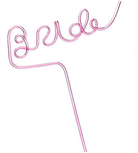 Cavore Bride Strohhalm XL pink für Braut - Deko Accessoires für JGA Junggesellinnenabschied und Hochzeit