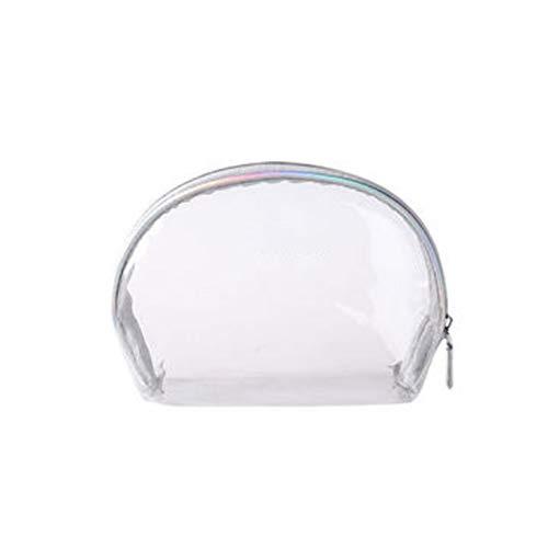 Bao Sac De Rangement Sac De Rangement Cosmétique Transparent Étanche Créatif De Façon Simple Grand Sac Lavage De Capacité 19x8.5x14cm (Color : Silver)