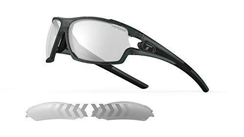 Tifosi Amok Unisex Brille mit einzelner Linse, Crystal Smoke/Fototec Light Night, Einheitsgröße