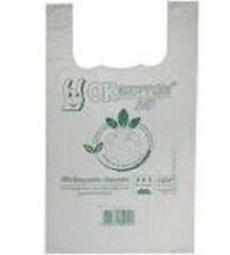 Shopper Biodegradabili Compostabili cm 27+16x50 - Scatola da 500 sacchetti, a Norma EN13432