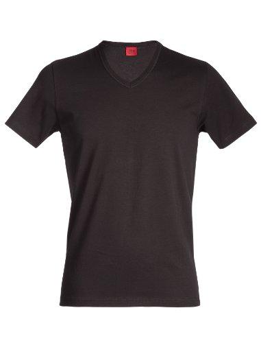JBS Herren Basic Unterzieh T-Shirt V-Ausschnitt Dess. 137, Schwarz, XL, 1372009-200