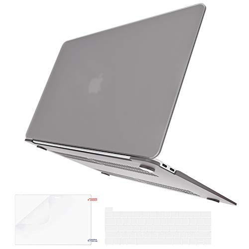 BELK MacBook Pro 13 inch Case 2020-2016 Release with/without Touch Bar A2338 M1 A2289 A2251 A2159 A1989 A1706 A1708, Slim Matte Plastic Hard Protective Shell & Keyboard Cover & Screen Protector, Grey