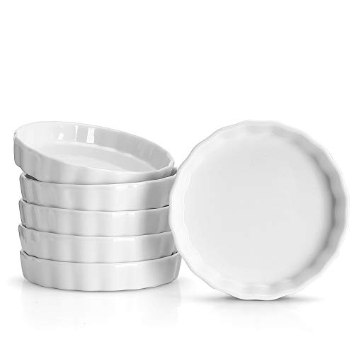 Sweese Porcelain Mini Fluted Tart Pans, Set of 6
