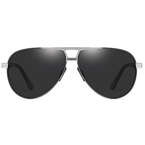 TYXL Sunglasses Las Gafas De Sol UV400 Antideslumbrantes De Metal Tienden A Las Gafas De Sol De Conducción for Hombre En Gris/Negro/Marrón/Verde/Amarillo (Color : Gray)