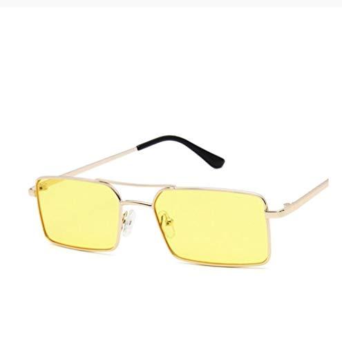 ZZZXX Gafas De Sol Hombre Espejo Retro De Metal Steampunk De Lujo Gafas De Piloto Con Estuche Y Paño De Limpieza, Para Ciclismo Pescar Y Conducir