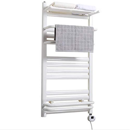 Zxcvy Secador De Toallas Bano Electrico Toallero con Calefacción Eléctrica Calentador Manual Radiador Toallero Calefactado Cromado 1000x500mm