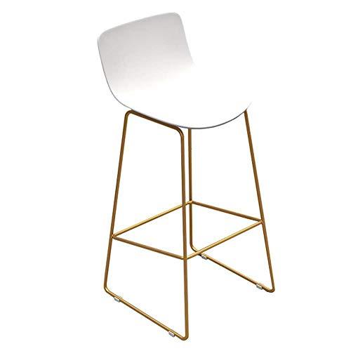 NYDZ barkruk, voor kantoor, hoge hoogte, mobiele, moderne barkruk, design comptoir mid back metalen basis – ergonomische kunststof