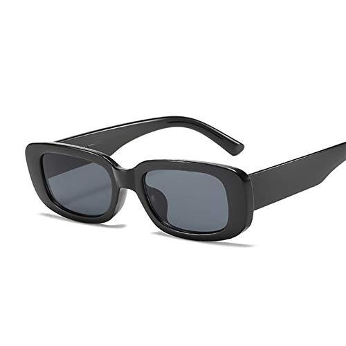 AleXanDer1 Gafas de Sol Moda Cuadrada Gafas de Sol Mujeres Gafas de Sol Hembra Espejo Negro pequeño (Lenses Color : Black)
