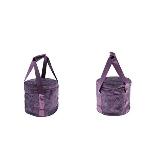 Almencla 2 Piezas de 8 '' Cuenco de Canto de Meditación Y Yoga Bolsa de Almacenamiento para 8 Cuencos de Canto, Púrpura
