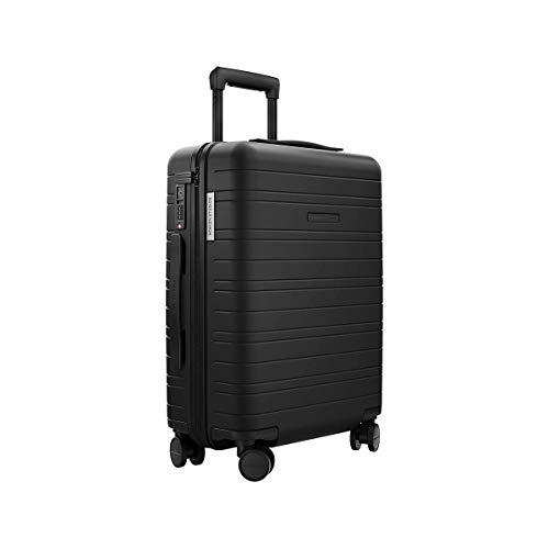 HORIZN STUDIOS H5 Essential Handgepäck-Koffer (Hartschale) 55cm | Kabinen-Koffer für 3-5 Tage mit TSA Schloss | (Schwarz)