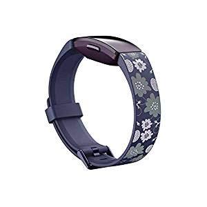 SPGUARD kompatibel mit Fitbit Ace 2 Activity Tracker, weiches Silikon Ersatz-Sportarmband für Kinder, Dunkelblau bedruckt