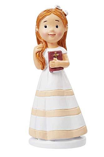 Deko-Figur mit Bibel Heilige Kommunion/Konfirmation Torten-Figur Kuchen-Aufsatz Tisch-Deko Dekoration Firmung Mädchen
