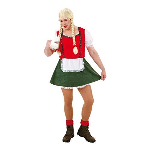 Dirndl Kostüm für Männer rot - L