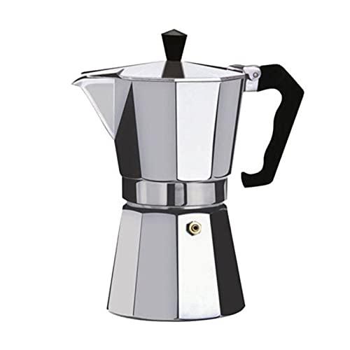 Ekspres do kawy Aluminiowa Mokka Espresso Perkolator Garnek Coffee Maker Moka Pot Espresso Shot Maker Espresso Machine (Color : Silver, Rozmiar : 150ml)