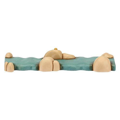 THUN - Set con 2 Pezzi di Fiume Dritti - Presepe Classico - Ceramica - 15x5,6x2,1 cm h cad.