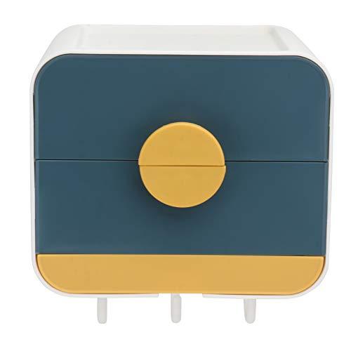 Cabilock Caja de Jabón Soporte de Pared Organizador de Montaje Cajón Jabonera Caja de Ahorro de Jabón Contenedor con Gancho para El Baño Camping Gimnasio Cosméticos Joyería Azul