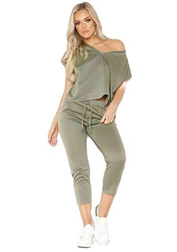 New Womens Vouge Print Tracksuit Ladies Plain Top Bottom Co Ord Loungewear Set