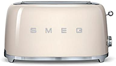 Smeg TSF02CRUS 50's Retro Style Aesthetic 4 Slice Toaster, Cream