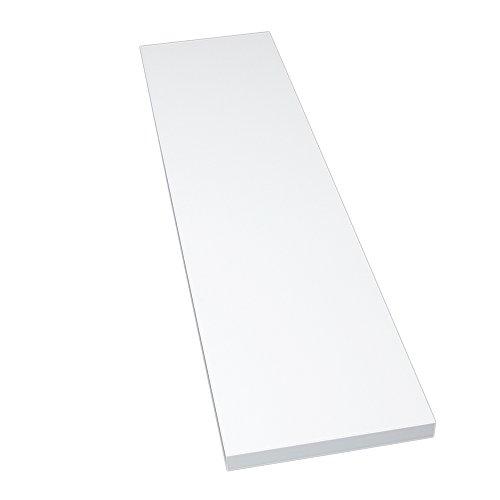 Möbelbauplatte Regalbrett Glanzweiß 1150 x 300 x 22 mm, 4 Seiten umleimt