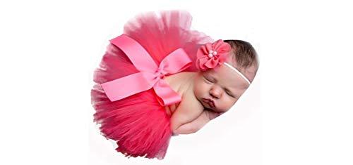 Rojo, recién nacido bebé Tutu Ropa Falda Tocado Flor Fotografía Fotografía Traje de apoyo