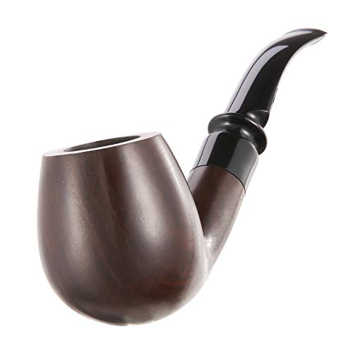 Joyoldelf Tobacco Pipes, Handmade Smoking Pipe with X Pipe Stand, Pipe Using & Cleaning Tools and Other Accessories with Pipe Pouch & Gift Box