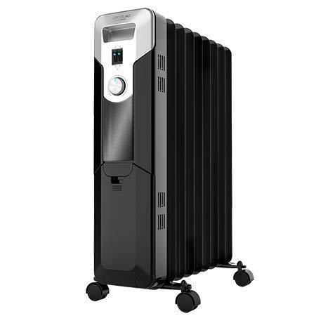 Cecotec Radiatore ad olio Ready Warm 5670 Space. 9 moduli, 2000 W, termostato regolabile con 3 livelli di potenza, copertura 20mq, Sistema AutoOff..