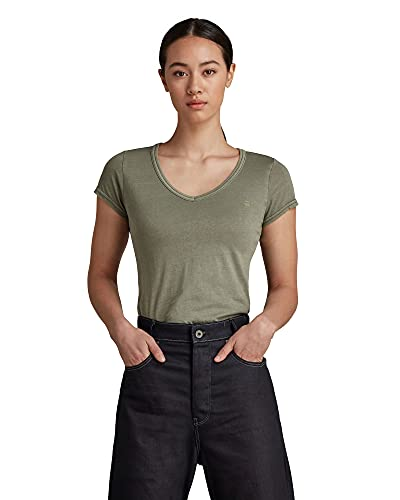 G-STAR RAW Eyben Slim Top Overdyed - Camiseta para mujer Verde (Shamrock Gd B059-b681) XS