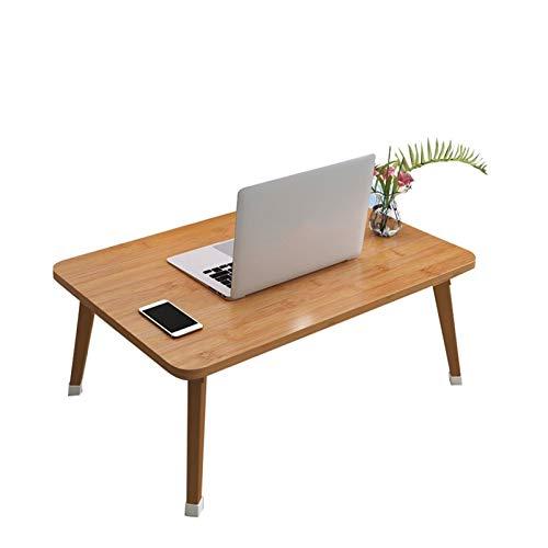 Mesa Portátil Ordenador Ajustable con Ruedas Escritorio de computadora simple escritorio de la cama dormitorio plegable hogar multifunción mesa perezosa mesa para estudiantes (tres colores opcionales)
