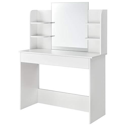 ArtLife Schminktisch Bella weiß | Frisiertisch mit Spiegel, Schublade & Ablagen - Schlafzimmer oder Jugendzimmer | ideal für Damen & Teenager