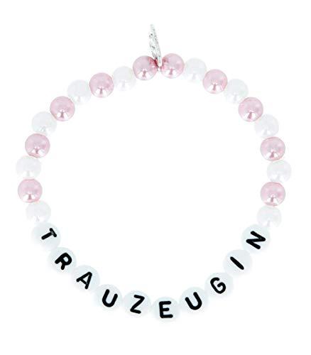 Perlenarmkettchen 'Trauzeugin', Farbe Kettchen:Flieder/weiß
