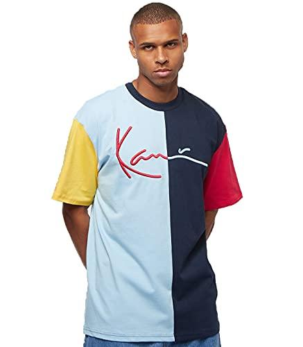 Karl Kani KK Signature Black Tee Navy L. Blue Red Größe: XL Farbe: Blue