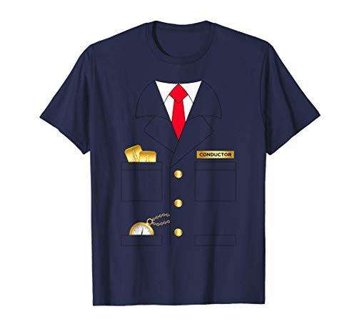 Hombre Traje de operador de conductor de tren Disfraz de Halloween Camiseta
