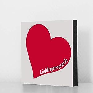"""Bild""""Lieblingsmensch"""" 10x10cm, MDF, Geschenk, Deko, Valentinstag"""