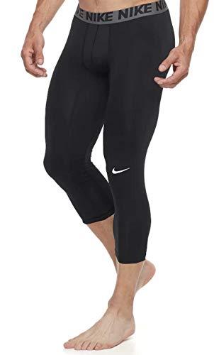 Nike Men's Baselayer Tight 3 Quarter, Black/Dark Grey/White, XX-Large